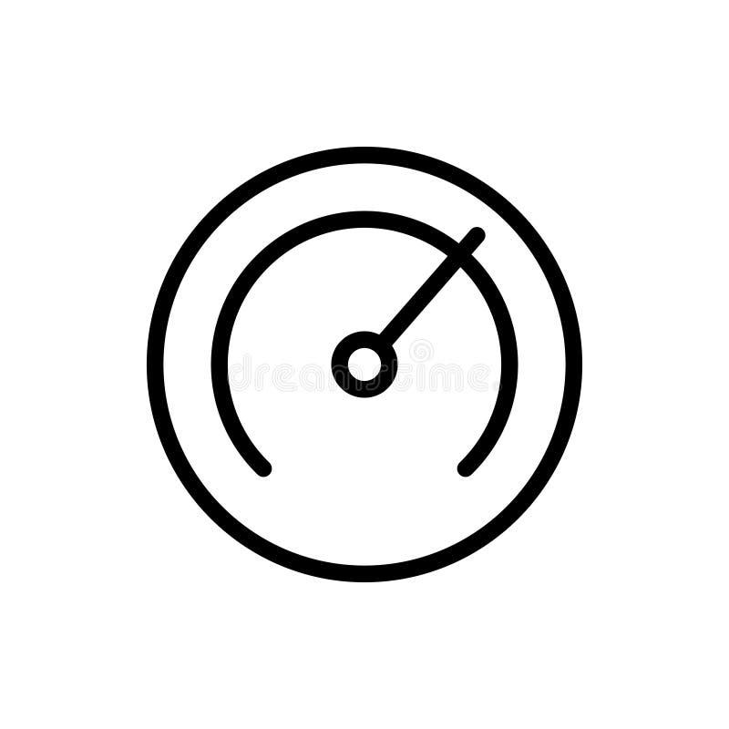 Szybkościomierz kreskowa ikona ilustracja wektor