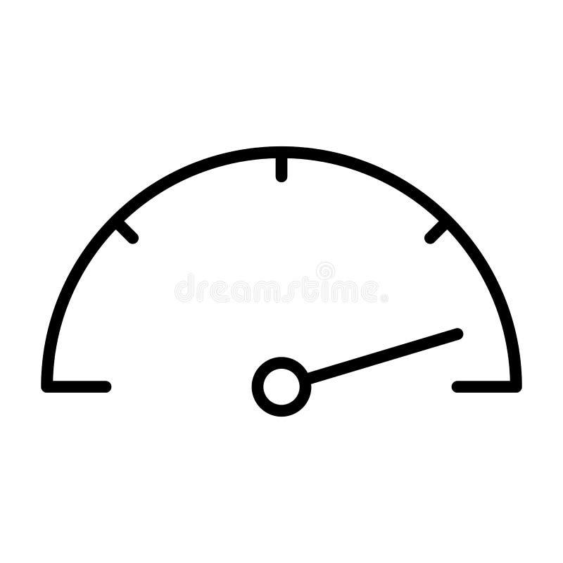 Szybkościomierz kreskowa ikona Wektorowy Prosty Minimalny 96x96 piktogram ilustracji