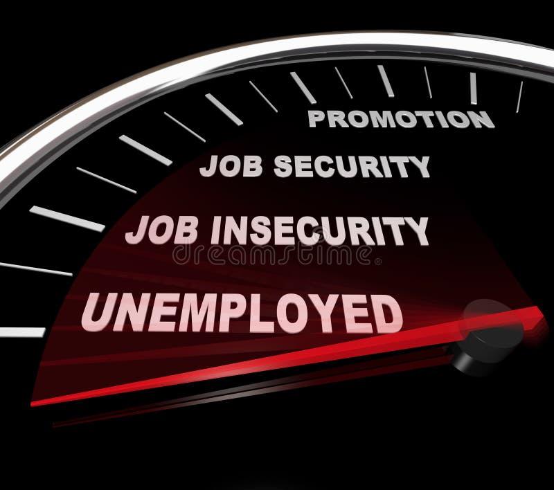 szybkościomierza bezrobocia słowa ilustracji