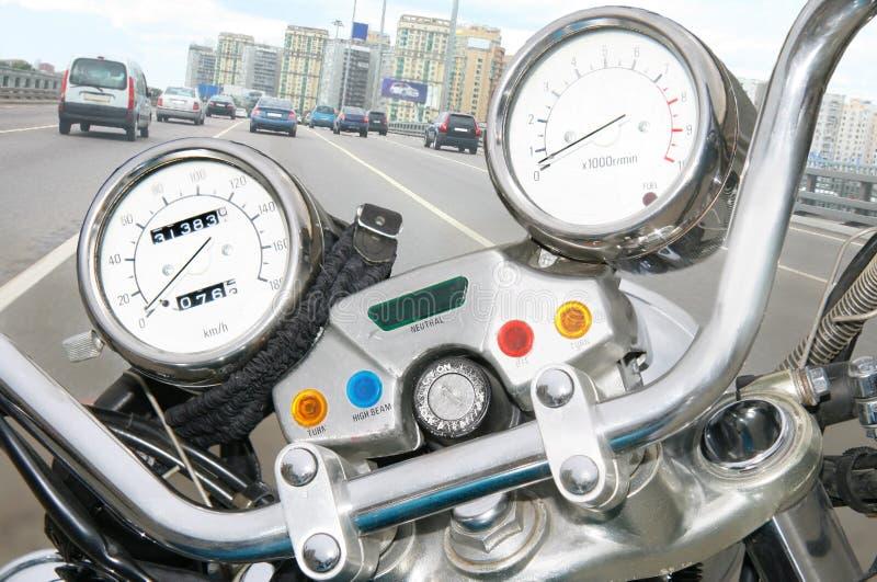 Szybkościomierza i motocyklu tachometre obrazy royalty free