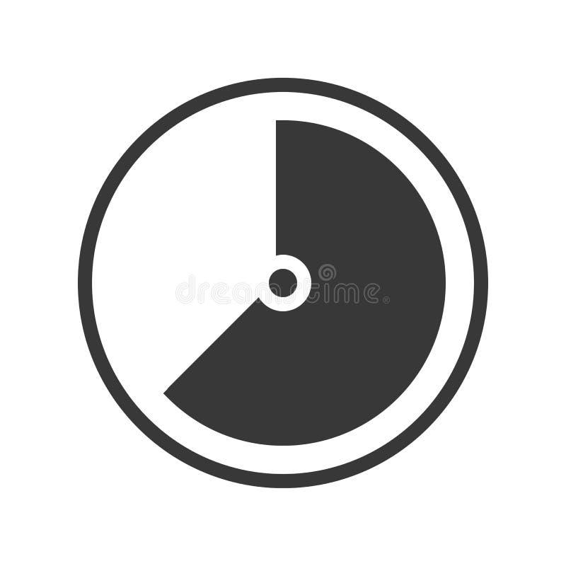 Szybkościomierza lub czasu gage ikony wektoru ilustracja ilustracja wektor