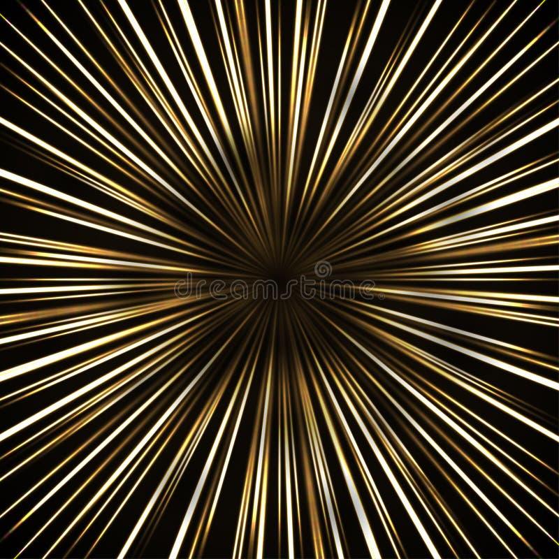 Szybkościowy światło tła abstrakcjonistyczny światło liniowy światło dla Yo ilustracji