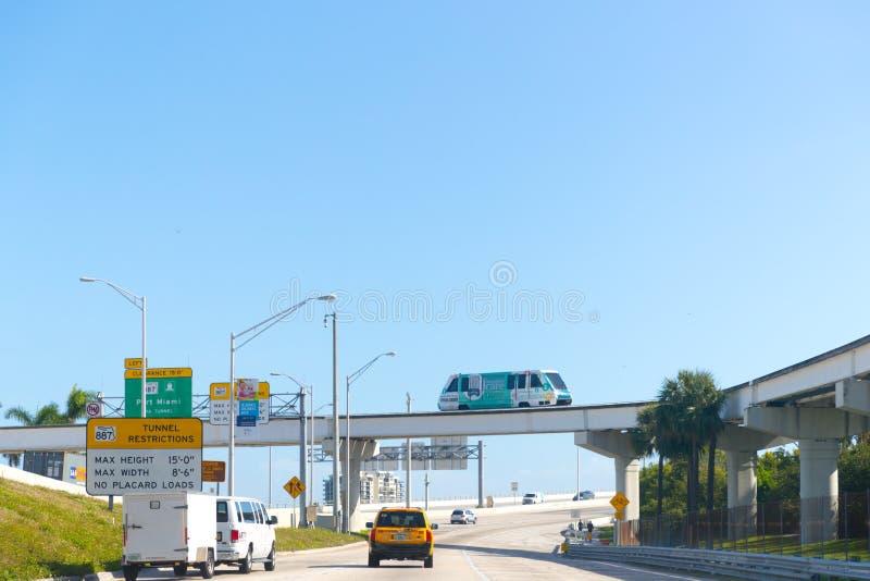 Szybkościowy most w Miami mieście obrazy stock