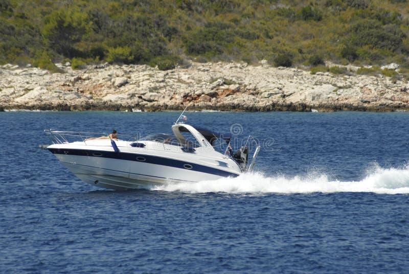 szybko łódź zdjęcia royalty free