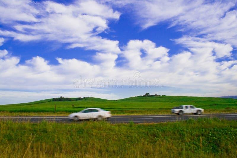 szybko jadącego samochodu zdjęcie stock