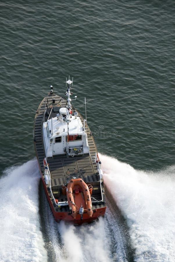 szybko patrol łódź fotografia royalty free