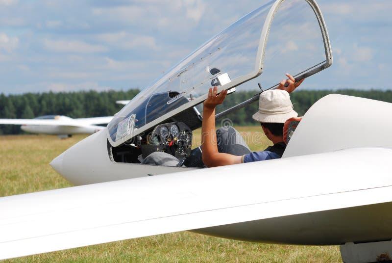 Szybowcowy pilot obrazy stock