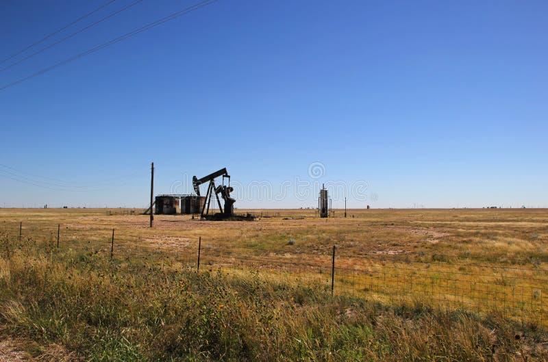 Szybu naftowego pumper w Zachodnim Teksas fotografia stock
