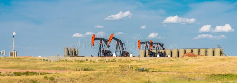 Szyby naftowi fotografia stock