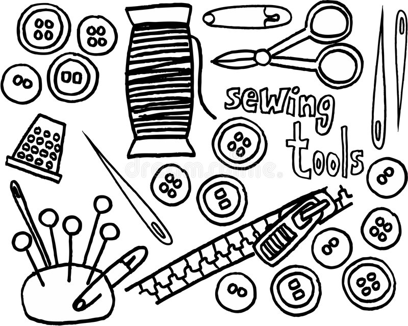 szycie narzędzi ilustracji