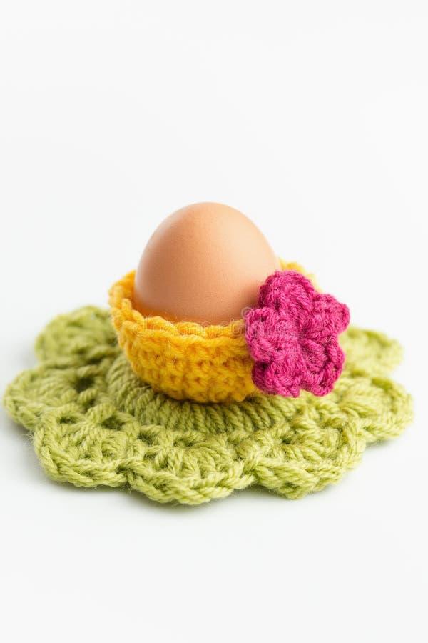 Szydełkowe Wielkanocne dekoracje zdjęcia stock