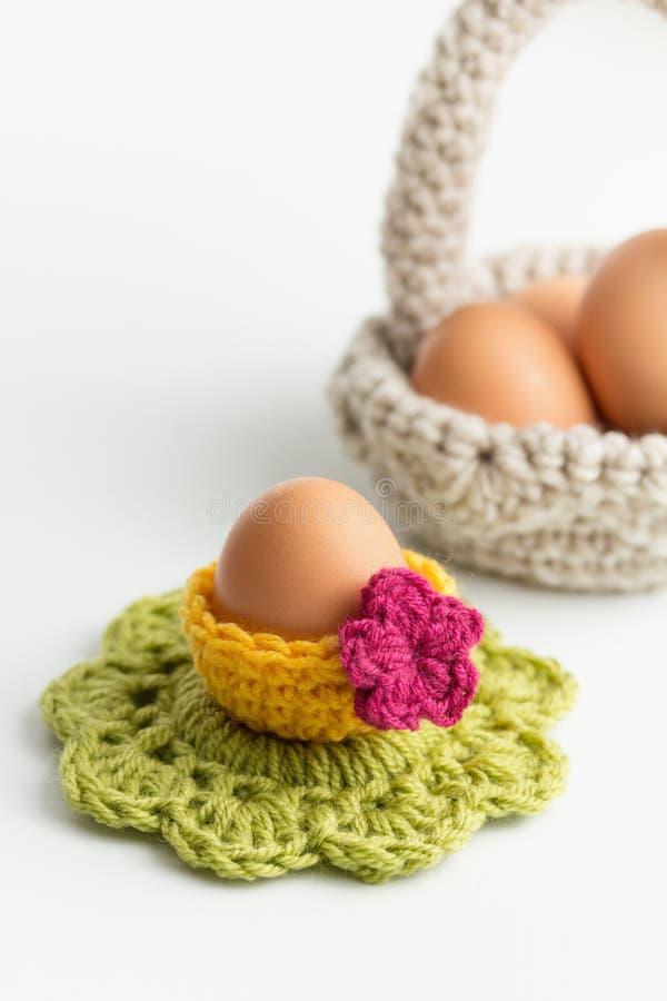 Szydełkowe Wielkanocne dekoracje obraz stock