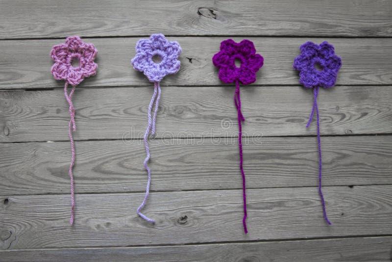 Szydełkujący kwiaty zdjęcia royalty free