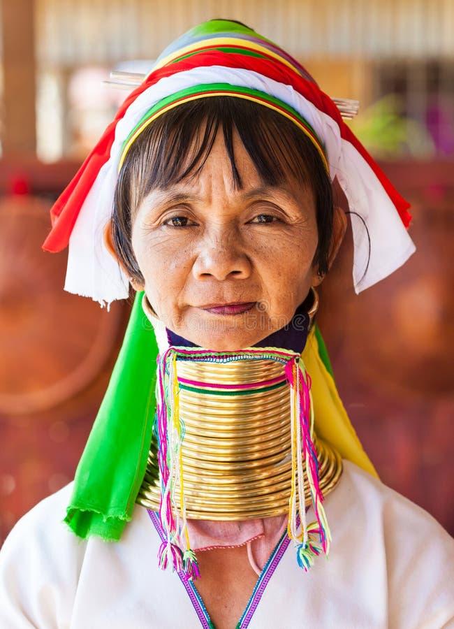 szyi kobieta, Myanmar fotografia royalty free