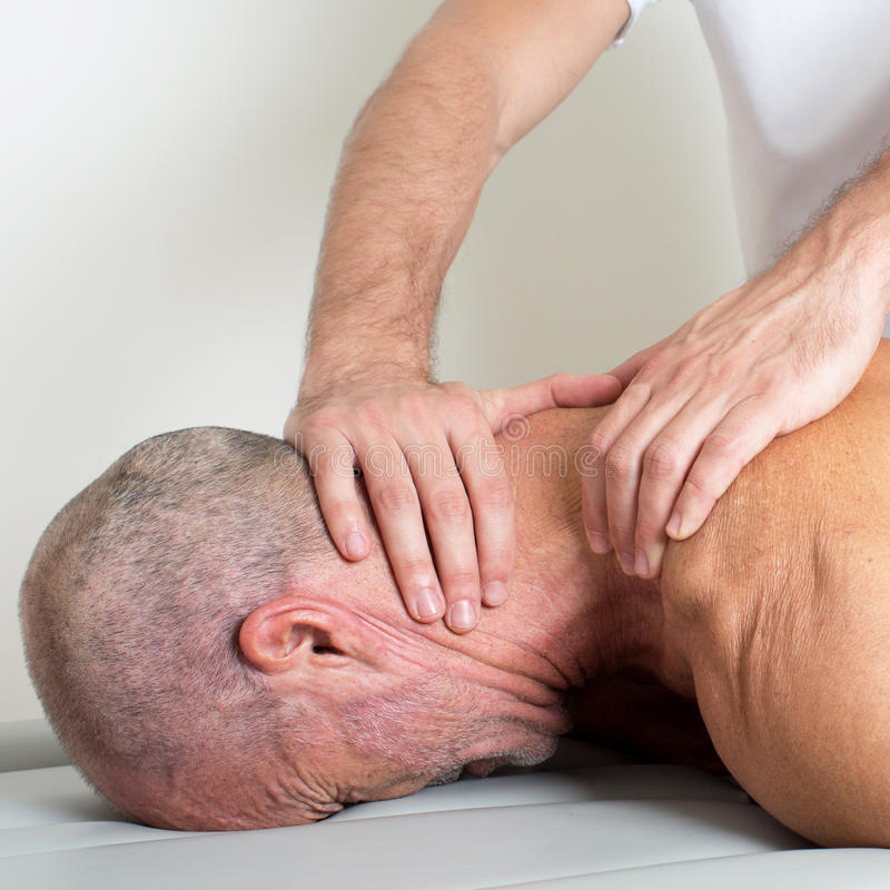 Szyja masaż obraz stock