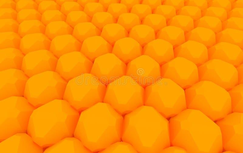 szyka pomarańcze sfera ilustracji