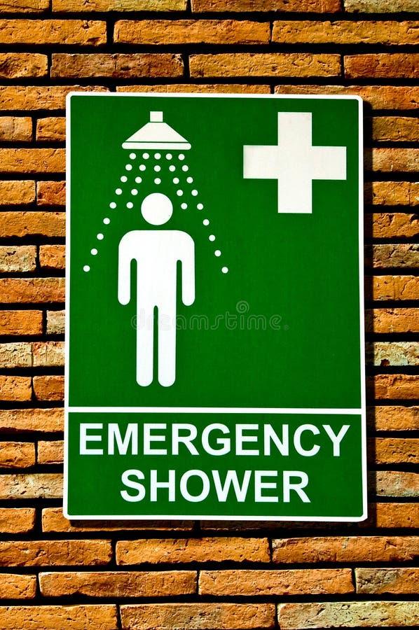 Szyldowa przeciwawaryjna zbawcza prysznic obrazy royalty free