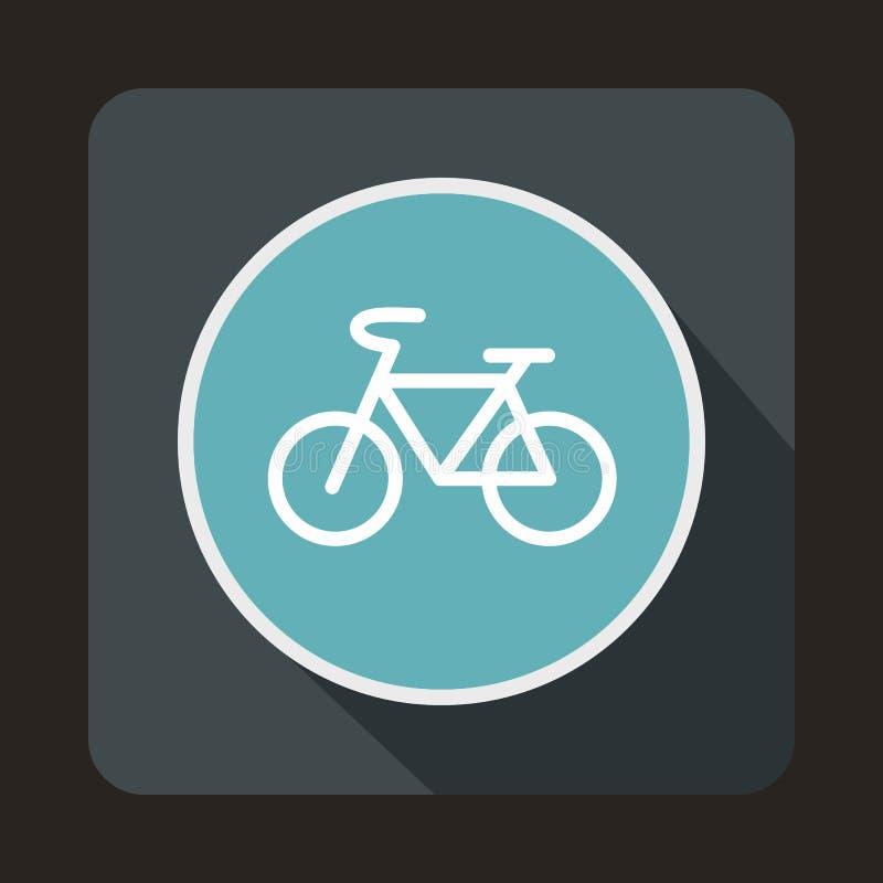 Szyldowa rower ikona, mieszkanie styl ilustracji