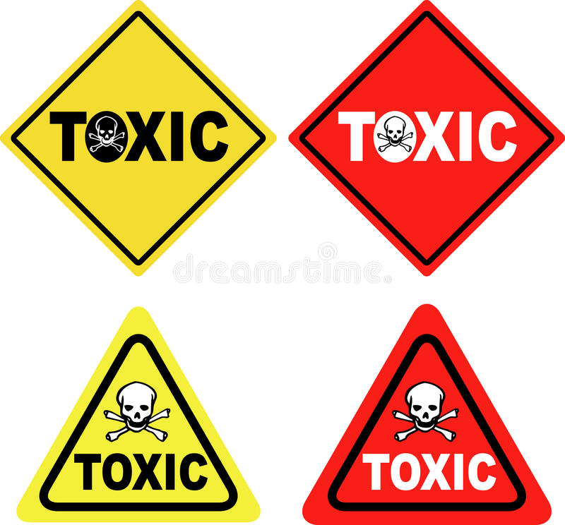 szyldowa substancja toksyczna ilustracji