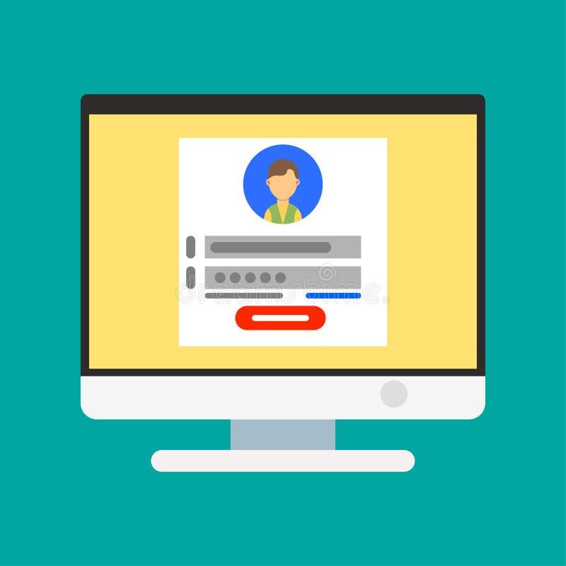 Szyldowego strona symbolu sieci pusty graficzny wektor Internetowa technologii sztuki komputeru ikona Biznesowego szablonu projek ilustracji