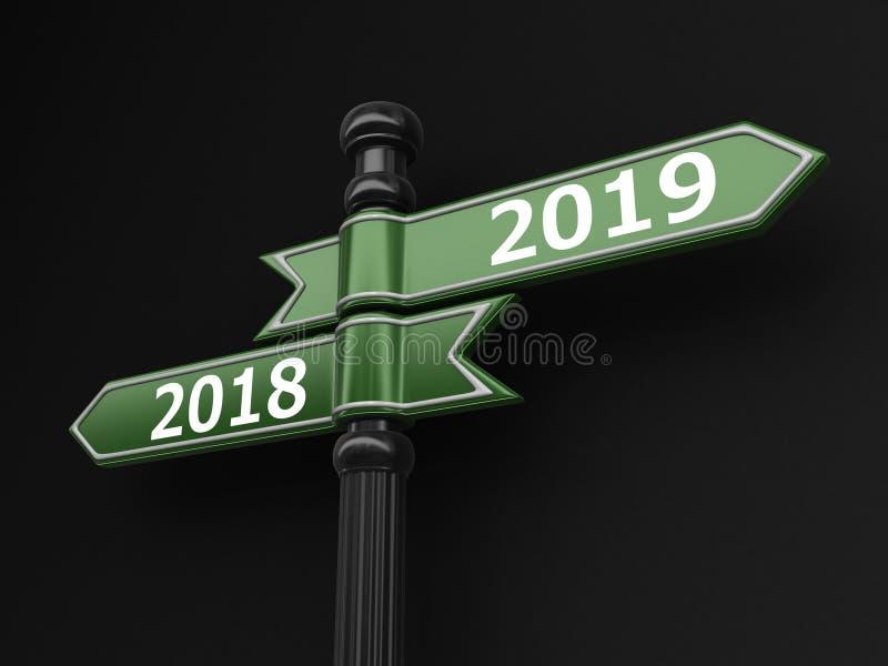 Szyldowi kierunki 2018, 2019 ilustracja wektor