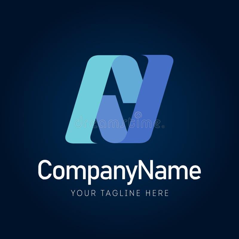 Szyldowy AV biznesowej logo elementu ikony firmy ilustracja wektor