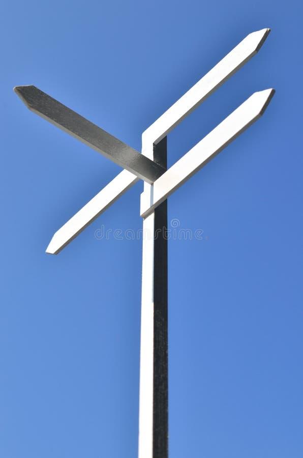 szyldowy błękit niebo zdjęcie stock