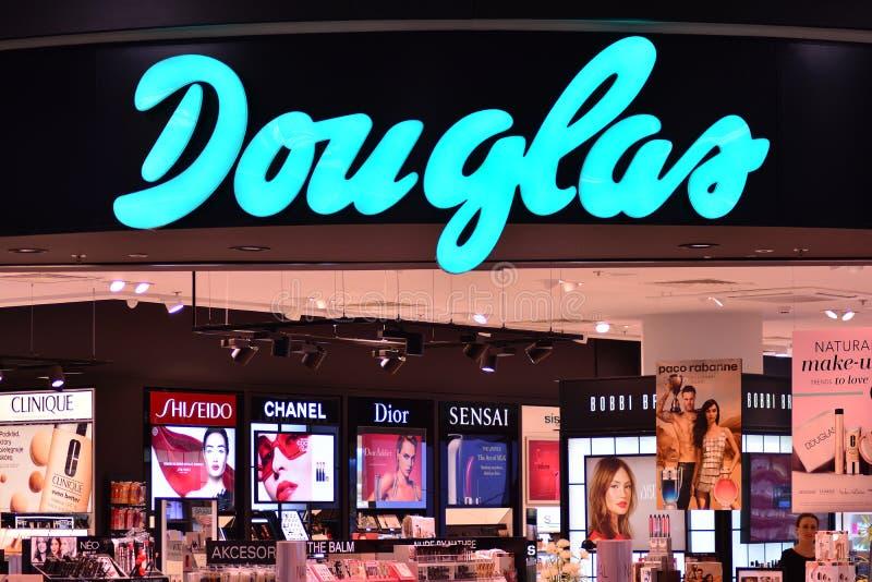 Szyldowy Douglas Firmy signboard Douglas obraz royalty free
