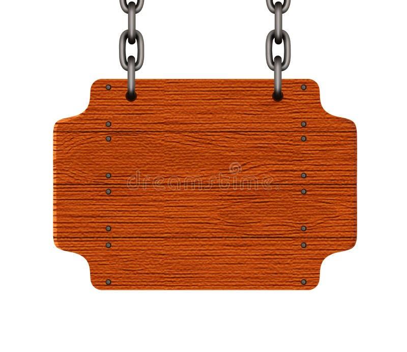 szyldowy drewniany royalty ilustracja