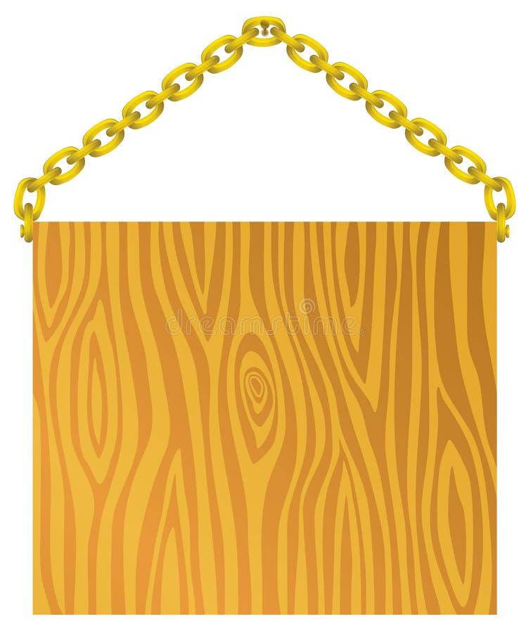 Download Szyldowy drewno ilustracja wektor. Ilustracja złożonej z niezrównoważenie - 13330264