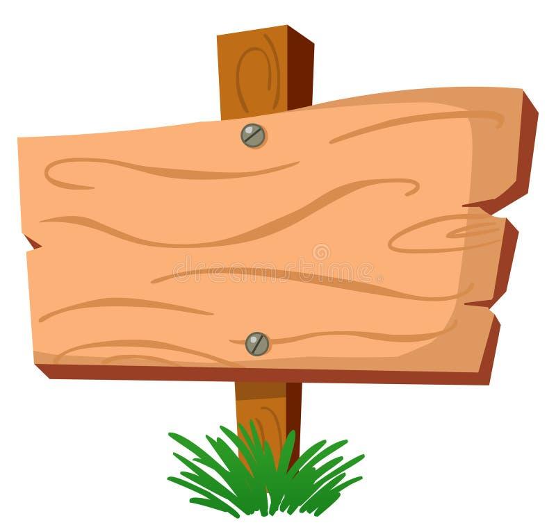 szyldowy drewno ilustracja wektor