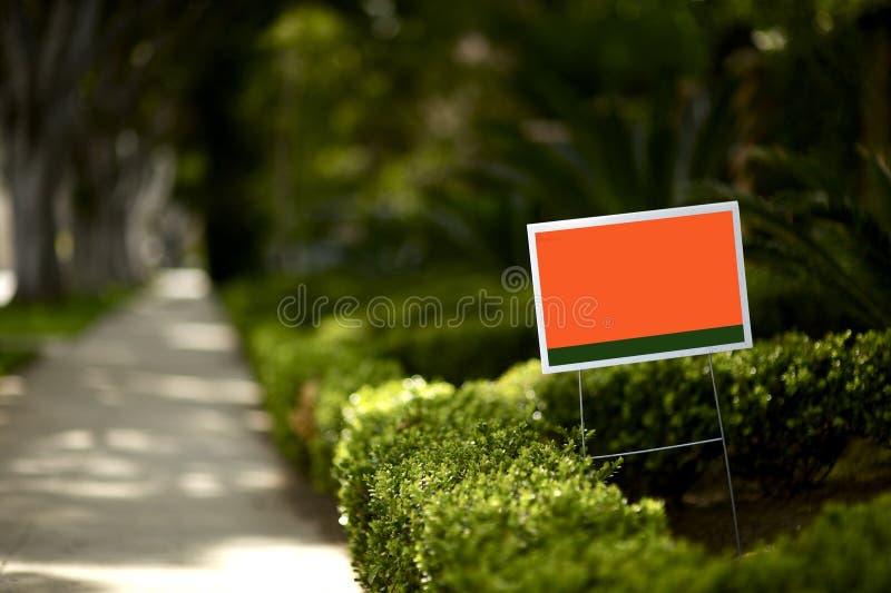 szyldowy jard obraz stock