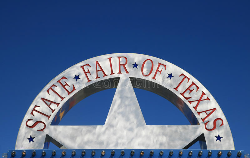 szyldowy jarmarku stan Texas obrazy stock