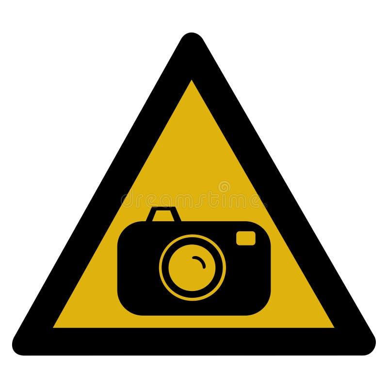 szyldowy kamery ostrzeżenie royalty ilustracja