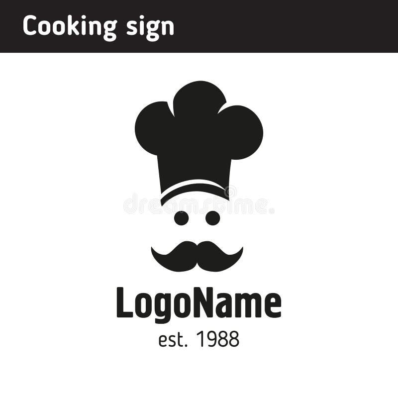 Szyldowy kucharz w nakrętce ilustracji