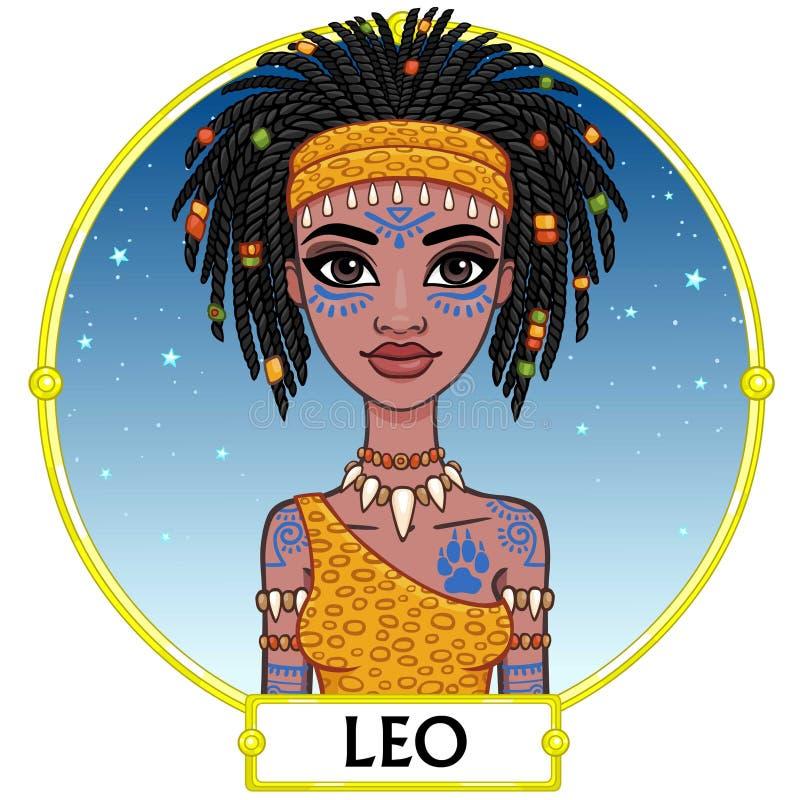 szyldowy Leo zodiak royalty ilustracja