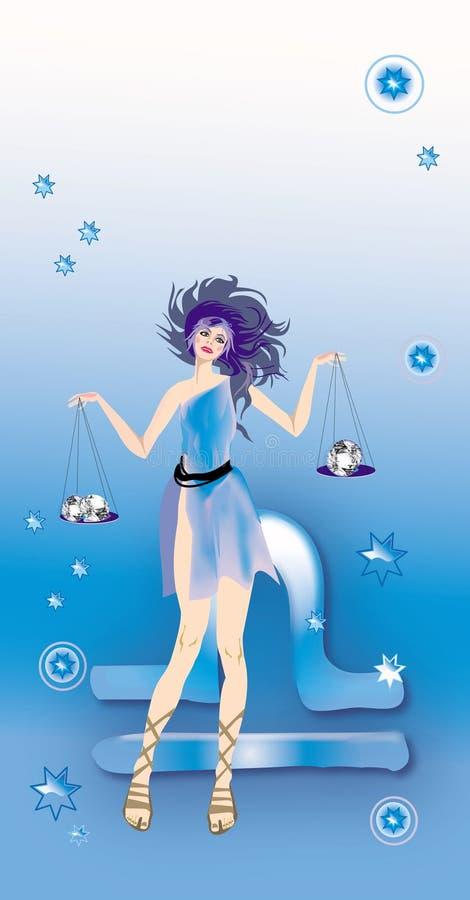 Szyldowy Libra Zodiak Fotografia Royalty Free