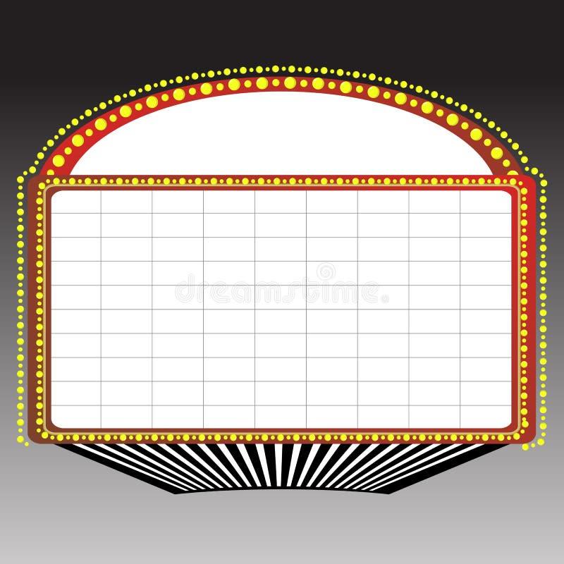 szyldowy markiza teatr ilustracja wektor