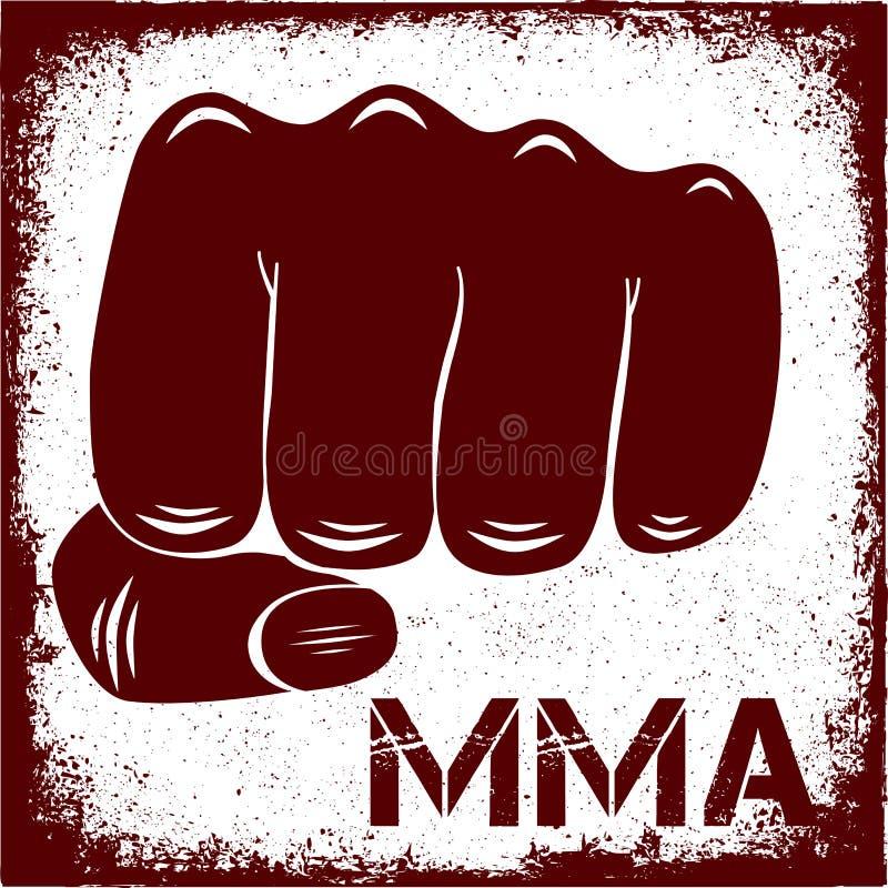 Szyldowy MMA royalty ilustracja