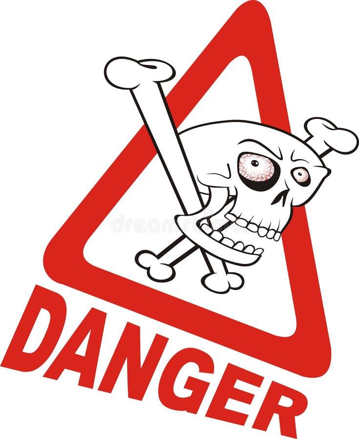 szyldowy niebezpieczeństwa ostrzeżenie ilustracji