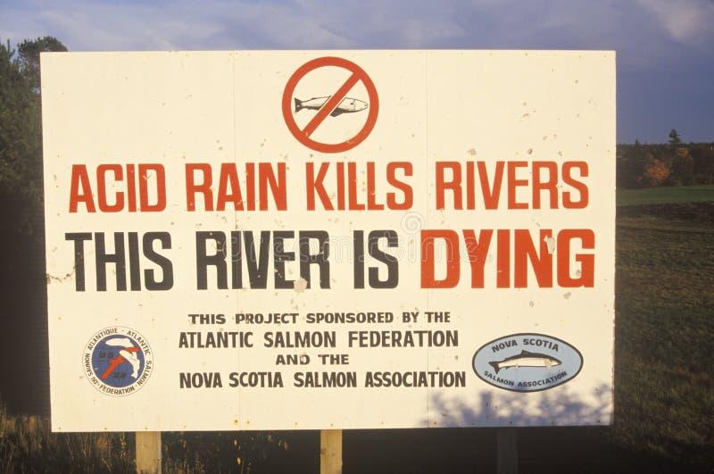 Szyldowy ostrzeżenie ten rzeka umiera zdjęcie royalty free