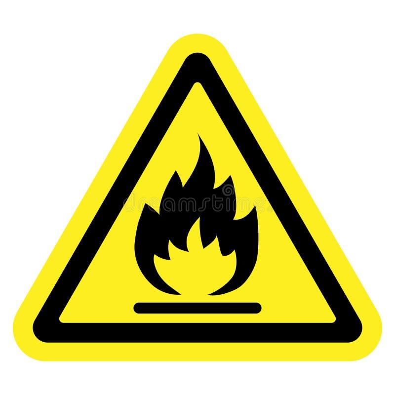 Szyldowy pożarniczy kolor żółty royalty ilustracja