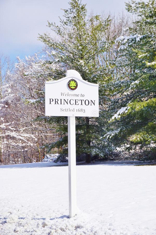 Szyldowy powitanie Princeton fotografia stock