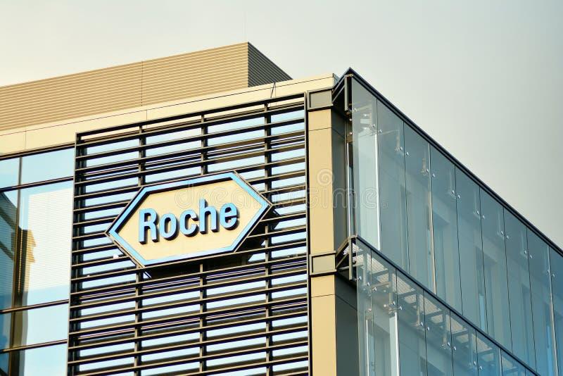 Szyldowy Roche Firmy signboard Roche obraz stock