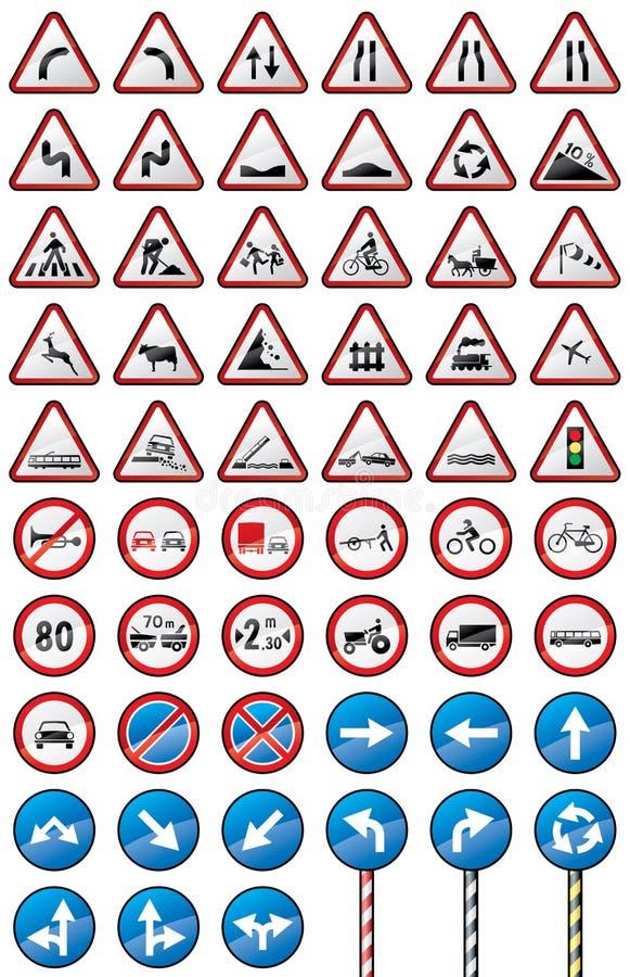 szyldowy ruch drogowy ilustracji
