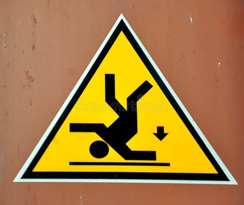 szyldowy ryzyka spadać ostrzeżenie obrazy royalty free