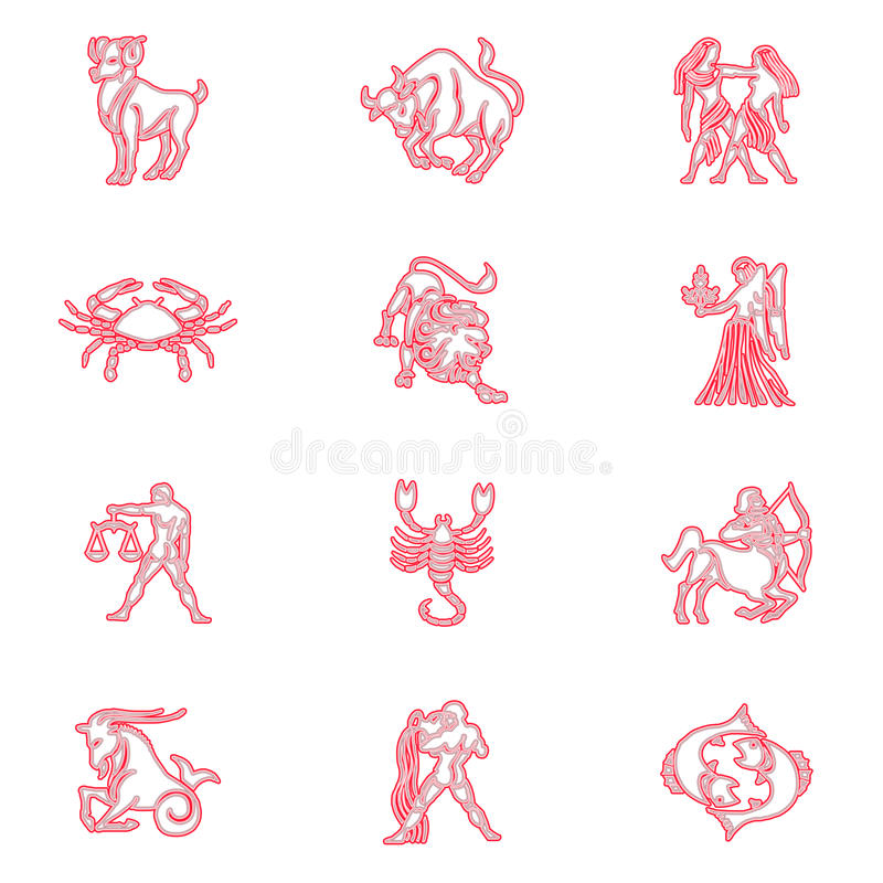 szyldowy S zodiak royalty ilustracja
