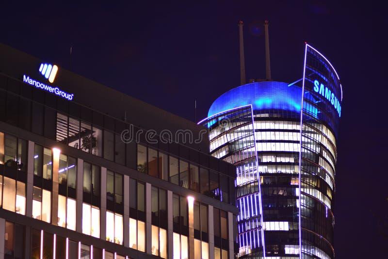 Szyldowy Samsung Firmy signboard Samsung zdjęcie stock