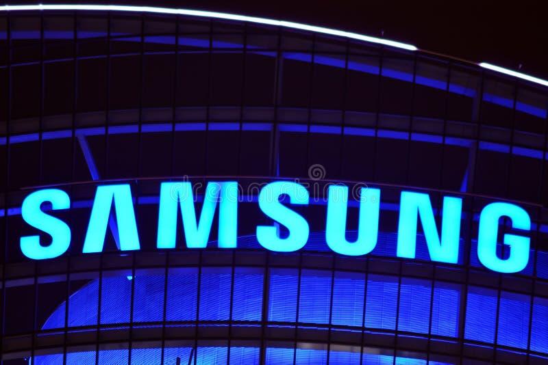 Szyldowy Samsung Firmy signboard Samsung zdjęcia stock