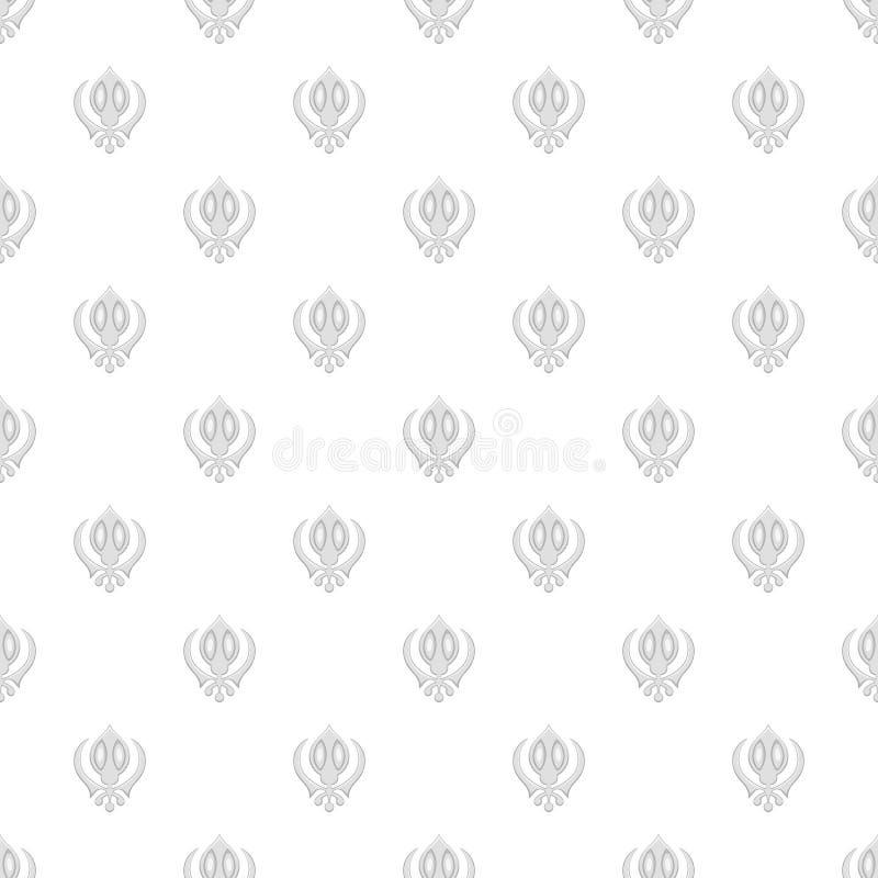 Szyldowy sikhism wzór, kreskówka styl royalty ilustracja